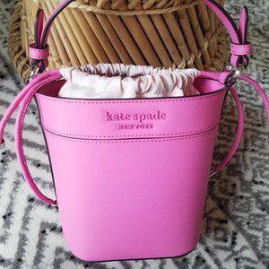 Bright Peony Kate Spade Small Bucket Bag Crossbody